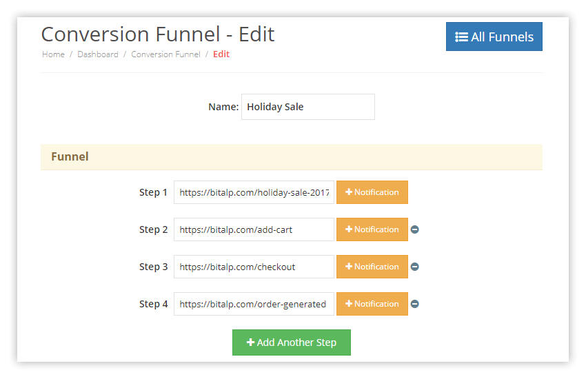 PushAlert Conversion Funnel Automation