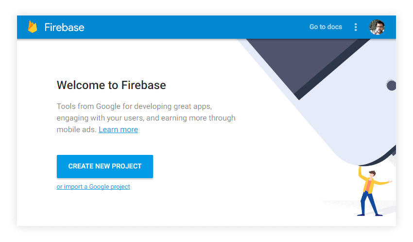Firebase New Project for Web Push