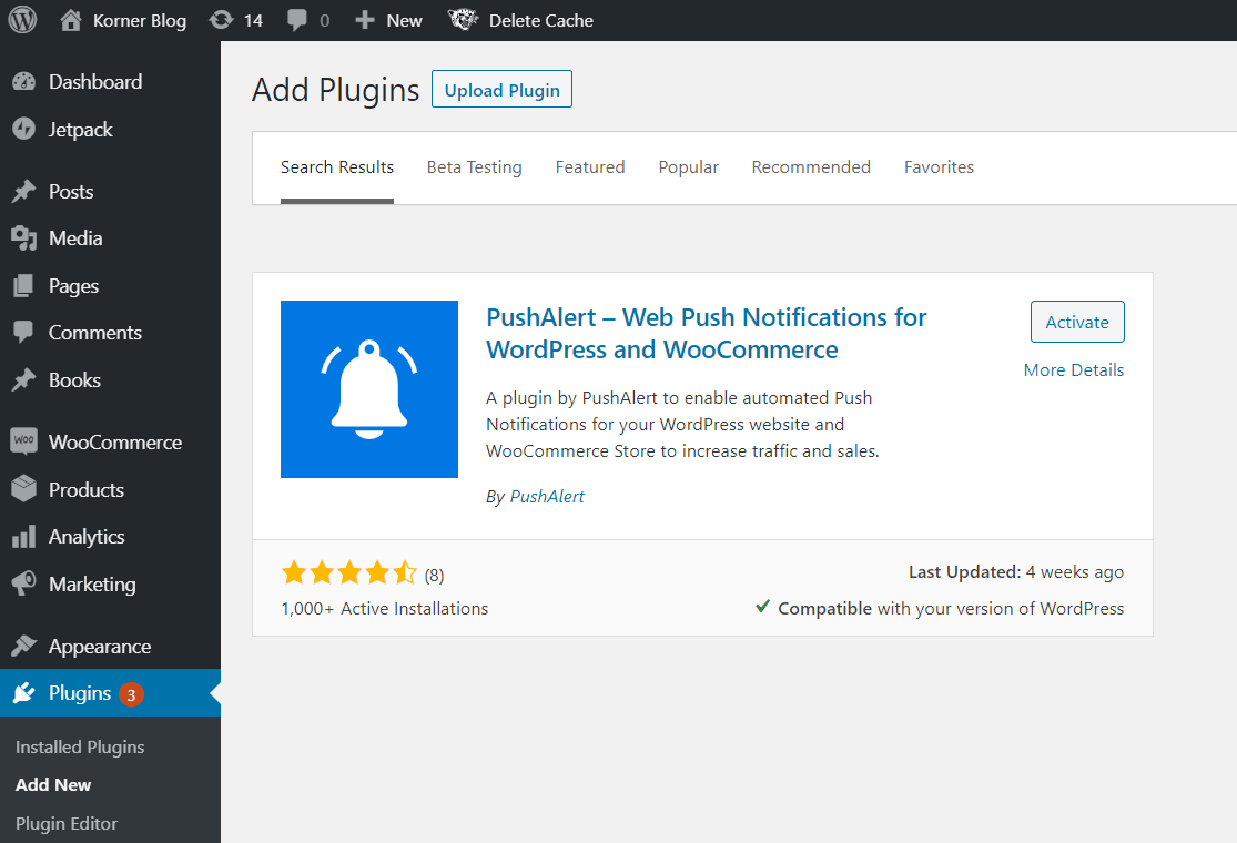 Push Notification WooCommerce Plugin Download and Install