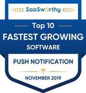 SaaSworthy - Fastest Growing Push Notification Top 10