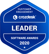 Crozdesk Award - Customer Engagement Software Leader 2020