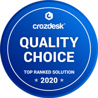 Crozdesk Award - Quality Choice Top Ranked Solution 2020
