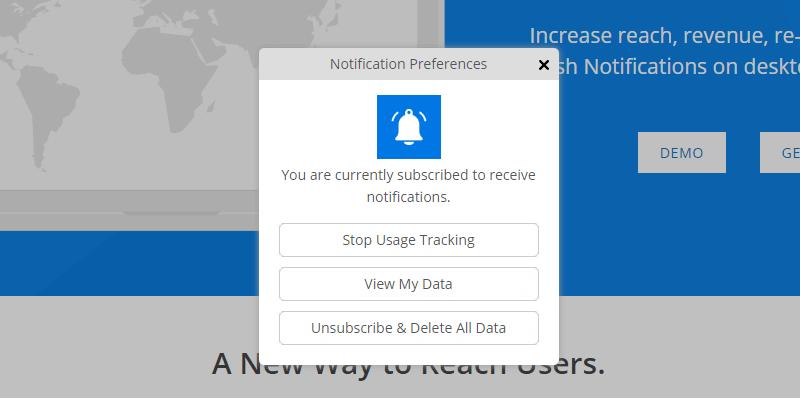 PushAlert - Notification Preference Manager Prompt on Website