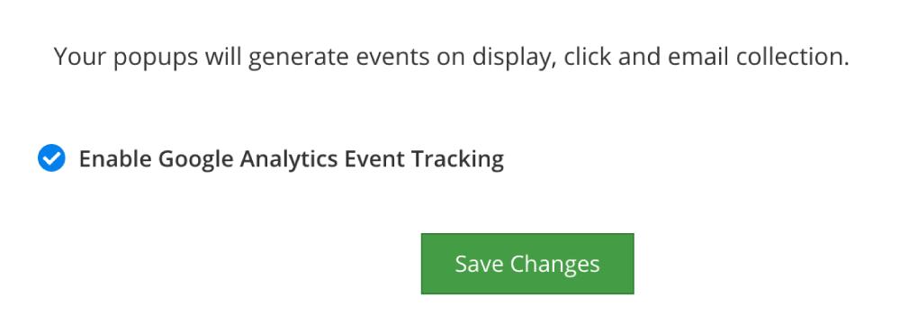 Enable Google Analytics Tracking