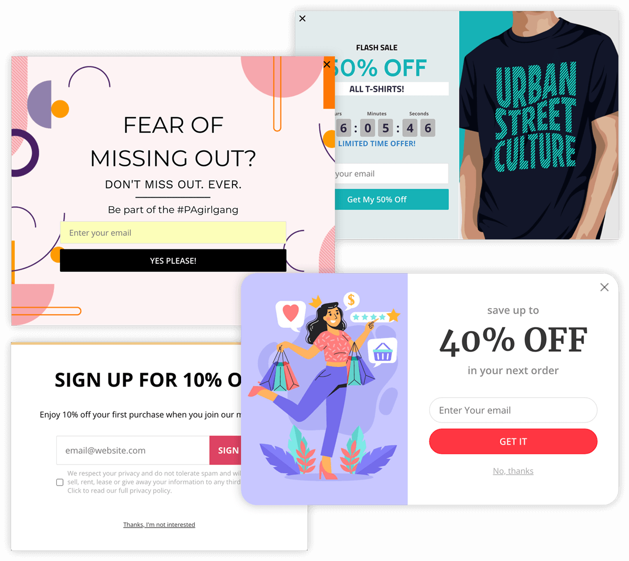 Conversion Ready Email Popup Templates